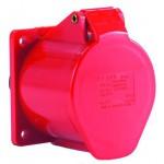 CEE-Einbausteckdosen 400 V mit Klappdeckel, rot