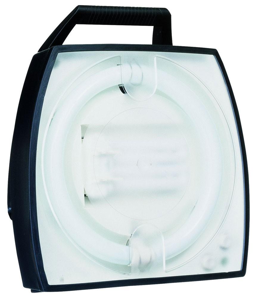 Arbeitsleuchte HEDI-Light AL56S 2 Ringröhre 56 Watt mit 4-fach Steckdose und Lichtschalter
