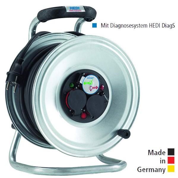 Kabeltrommel Professional Stahlblech, Neopren-Gummi-Leitung und Diagnosesystem HEDI DiagS