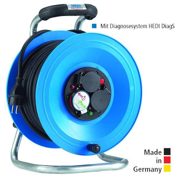 Kabeltrommel Professional Kunststoff, mit Gummi-Leitung und Diagnosesystem HEDI DiagS