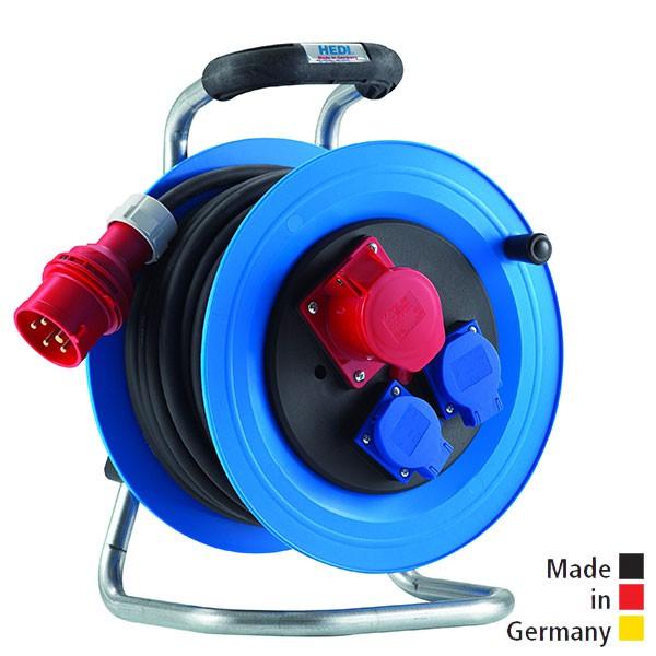 Drehstrom-Kabeltrommel Professional Kunststoff, mit Neopren-Gummi-Leitung H07RN-F
