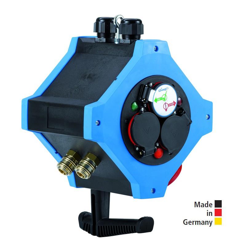 Energie-Hängeverteiler e.STATION - Kombi-Ausführungen Energie / Druckluft