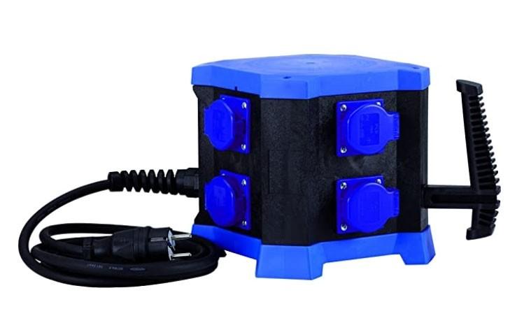 Mobiler Steckdosenverteiler m.STATION - Standard-Ausführung, H07RN-F 5G2,5, 16 A, 3,5 kW