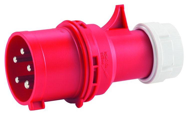 CEE-Stecker 5x32 A Mit Twist-Schnellverschluss 32 A / 400 V, für Querschnitte bis 5x6,0 mm²