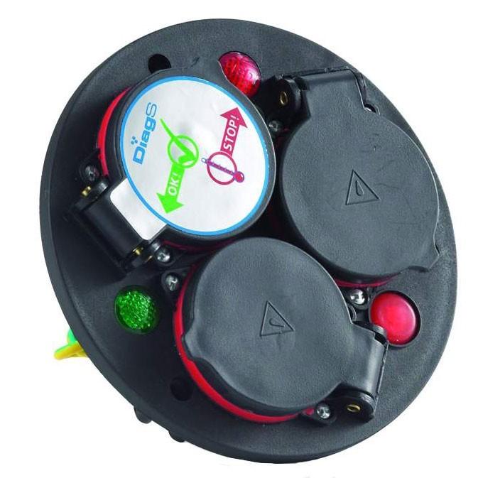 3-fach, Schuko mit Thermoschutzschalter u. DiagS Schutzart IP44