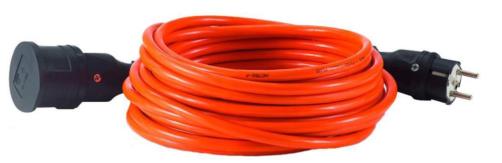 HEDI Verlängerungsleitung 15 m K35 Baustellenleitung AT-N07V3V3-F 3G1,5, orange