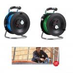 Bedruckungs-Paket 1. bestehend aus 2 x Kabeltrommel Professional Kunststoff in, 50 m H07BQ-F 3G1,5 mit 3-fach- Steckdose DiagS