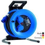 Kabeltrommel  Professional Plus 320, 2 Steckdosen CEE 3x16 A und Überlastschutz, mit FI Schalter mit Neopren-Gummi-Leitung H07RN-F