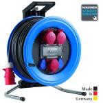 Drehstrom-Kabeltrommeln Professional Plus 450 Kunststoff, Neopren-Gummi-Leitung Eingang CEE 5x32 A - Ausgang 1x CEE 5x32 A, 2x CEE 5x16 A, 2x Schuko 250 V