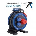 Vollkunstoff-Drehstromtrommel  HEDI Generation 7, Companion mit 20 m Neopren-Gummi-Leitung H07RN-F 5G2,5 in schwarz