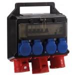 HEDI Steckdosenverteiler Kunststoff mit FI 32A