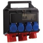 HEDI Steckdosenverteiler Kunststoff mit FI 16A