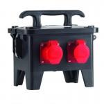 Steckdosenverteiler aus Vollgummi, Gehäusegröße (BxHxT): 310 x 230 x 290 mm