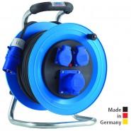 Kabeltrommel Professional Kunststoff, 25 m H07RN-F 3G2,5 mit 1 CEE Steckdose 3x16 A und 2 Schuko-Steckdosen sowie Überlastschutz